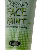 Green global face paint