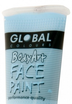 Light blue global face paint
