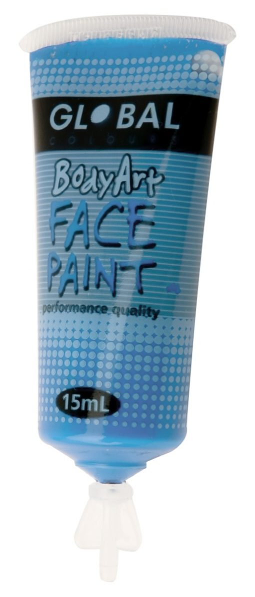 blue smurf face paint global