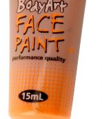Orange global face paint