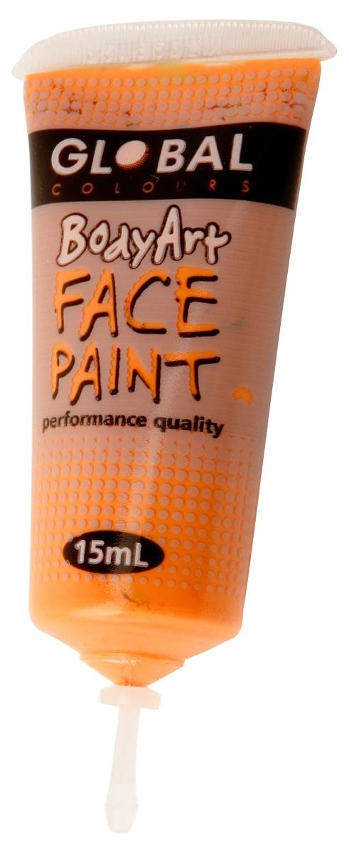 Orange global face paint