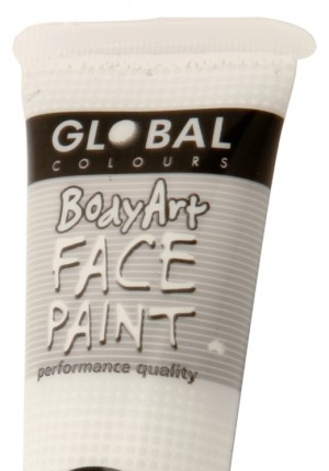 white global face paint
