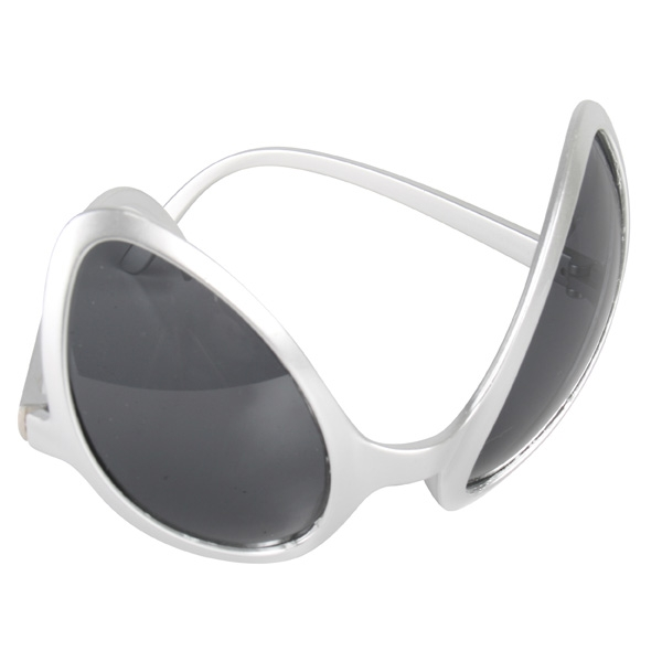 aa3454eea696 Alien Eyes Silver Sunglasses -Creative Costumes