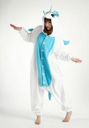 Unicorn blue animal costume