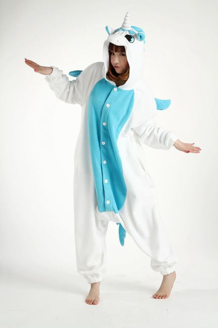 Unicorn Blue Animal Onesie Creative Costumes