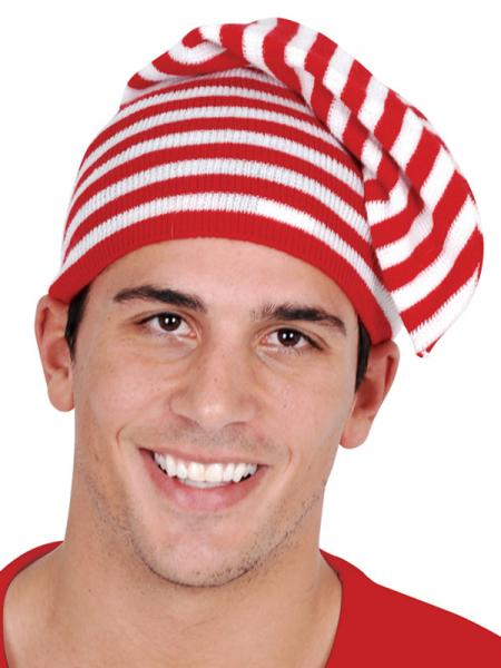 red white elf hat