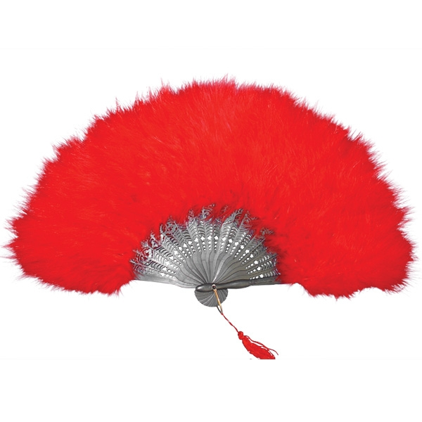 FEATHER FAN – RED - Creative Costumes