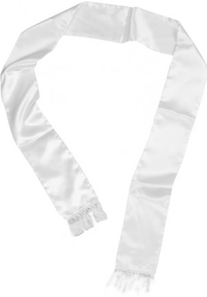 White mens scarf