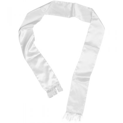 White mens scarf