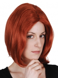 red short wig