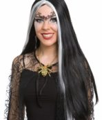 black white wig long