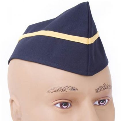 military blue hat