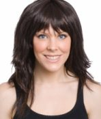 long layered brown wig