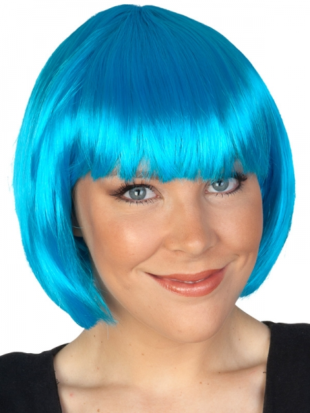 blue bob wig