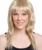 long layered blonde wig