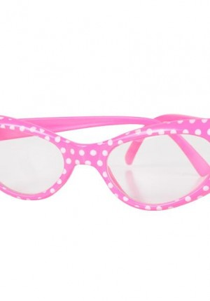 pink 50's glasses