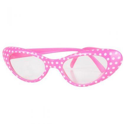 pink 50's glasses