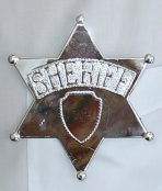 large sheriff badge