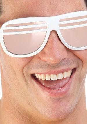 white slat sunglases