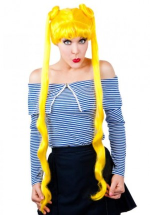 anime wig yellow