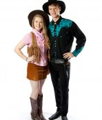 cowboy and cowgirl couple.