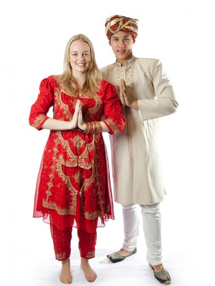 Indian cuople costume