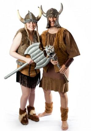 fantasy historical viking couple costume