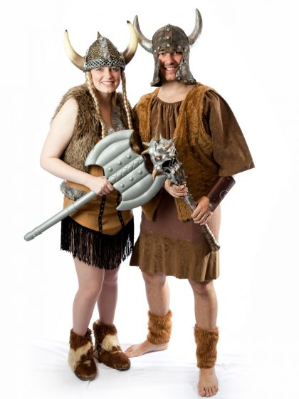 fantasy historical viking couple costume