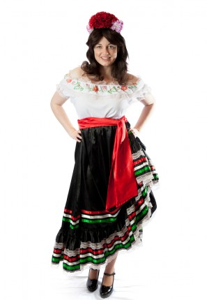 traditional mexican womens costume spanish seniorita fiesta dress up