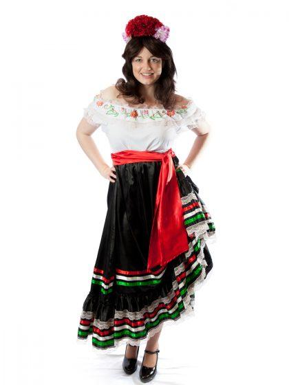 traditional mexican womens costume spanish seniorita fiesta dress up