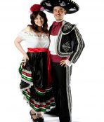 mexican couple costume fiesta taco mariachi spanish