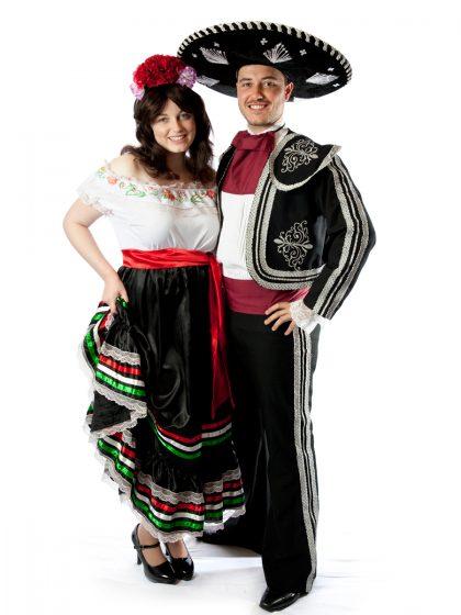 mexican couple costume fiesta taco mariachi spanish