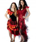 flamenco mexican spanish dancer costumes
