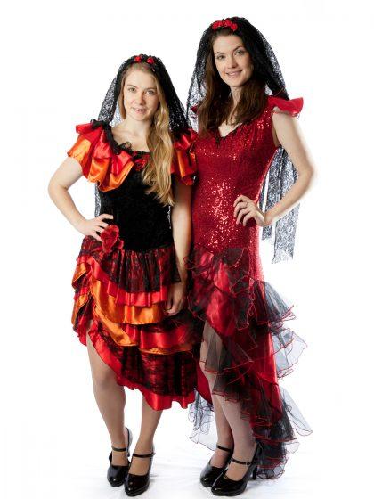flamenco mexican spanish dancer costumes