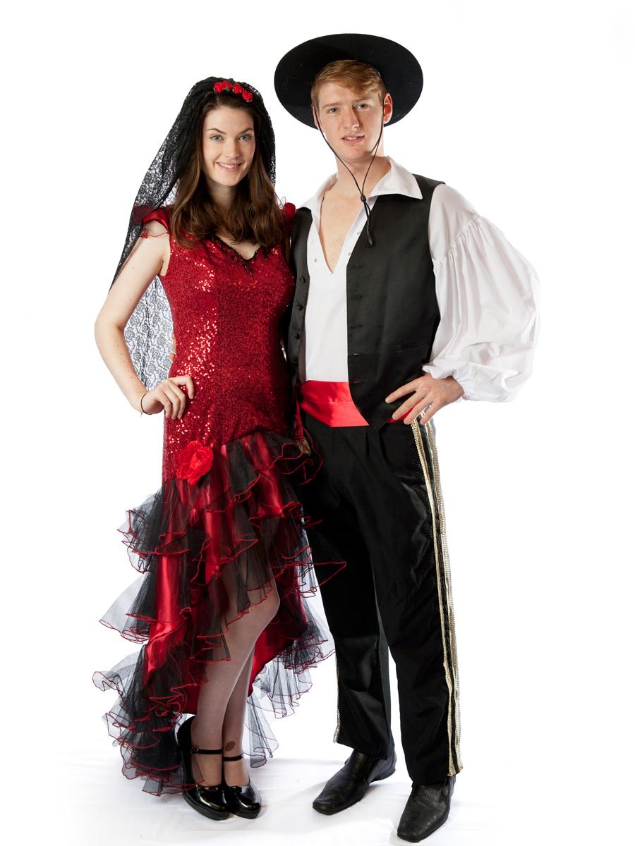 flamenco spanish mexican dancer carnival  sc 1 st  Creative Costumes & Spanish Flamenco Couple Costumes -Creative Costumes