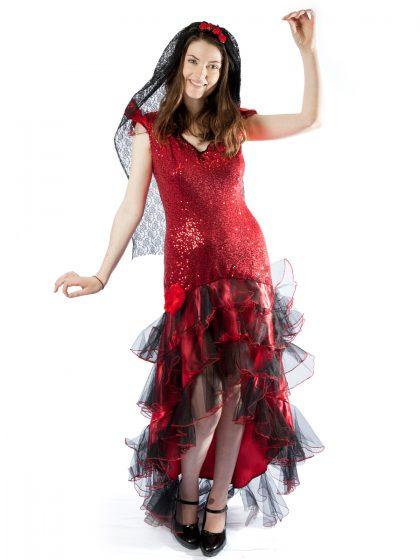 spanish mexican flamenco senorita dancer