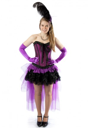 Burlesque female costume