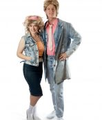 80's double denim couple costume