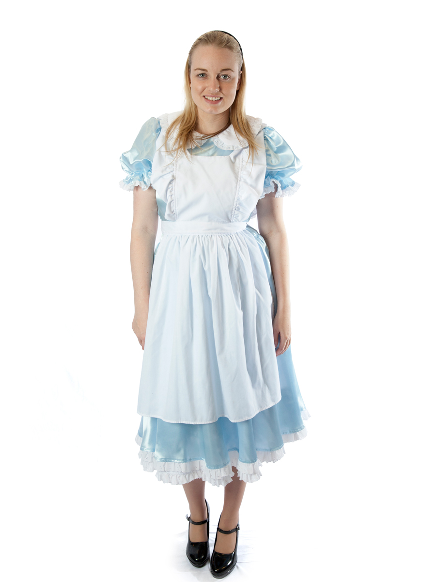 White pinafore apron costume - Alice Costume