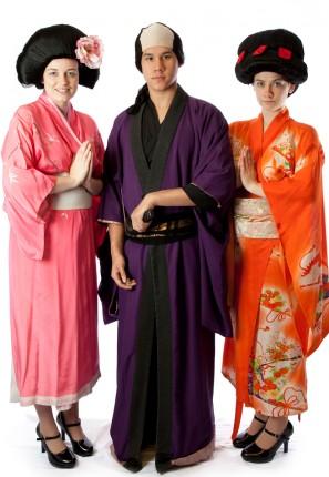Geisha group costume