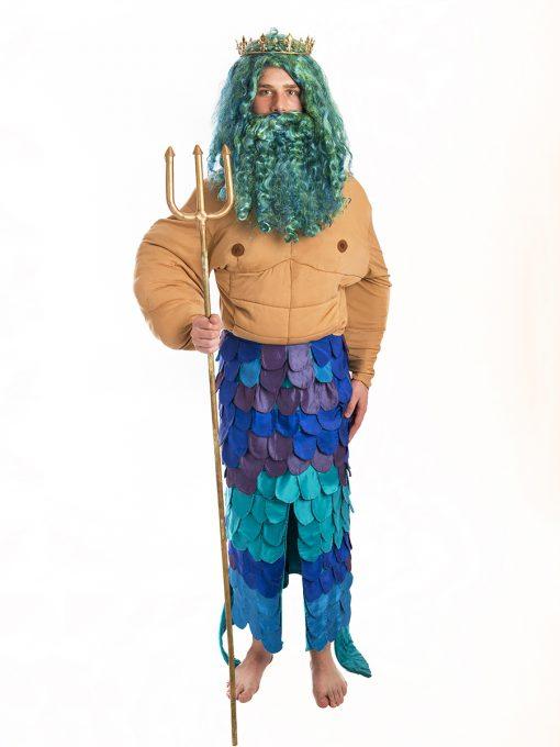 Merman Poseidon Costume