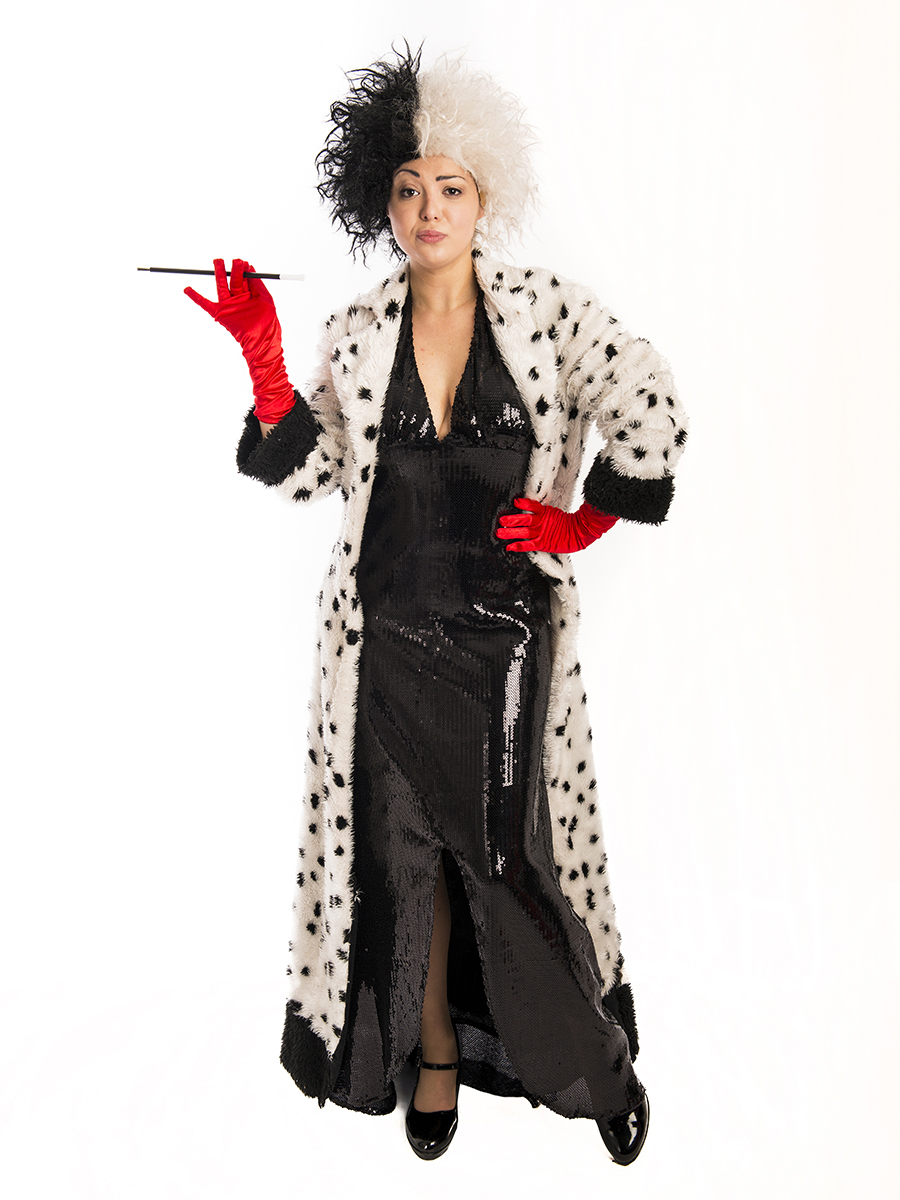 cruella de vil costume creative costumes. Black Bedroom Furniture Sets. Home Design Ideas