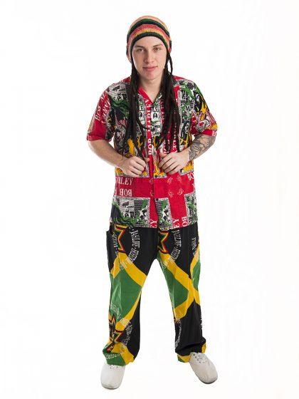 Jamaican Rastafarian Mens Costume