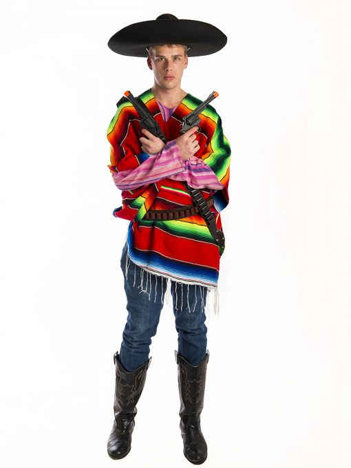 Mexican Poncho Mens Costume