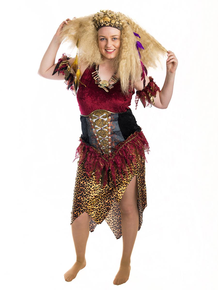 Voodoo Queen Ladies Costume -Creative Costumes Voodoo Queen Costume
