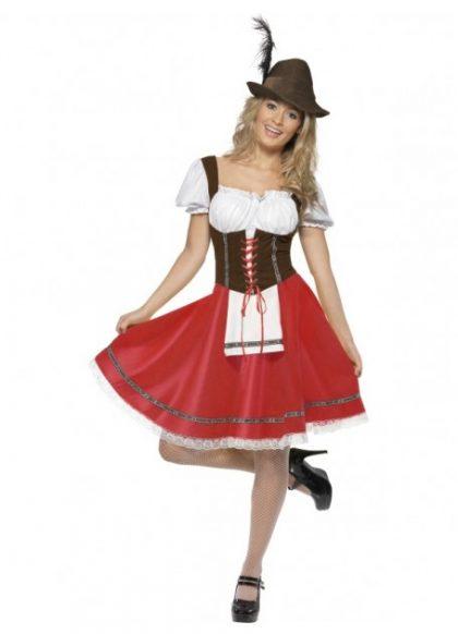 Female dirndl costume