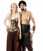 Khal Drogo and Khalessi couple