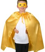 yellow cape and mask set