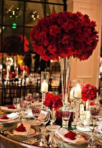 Hollywood table setting