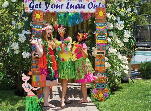 Hawaiian costume booth